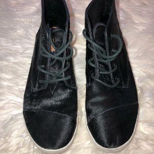 Toms Women's High Paseo Calf Hair Sneaker Size 8.5